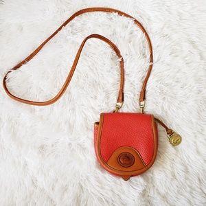 Vtg AWL Dooney & Bourke Red Belt Crossbody Bag